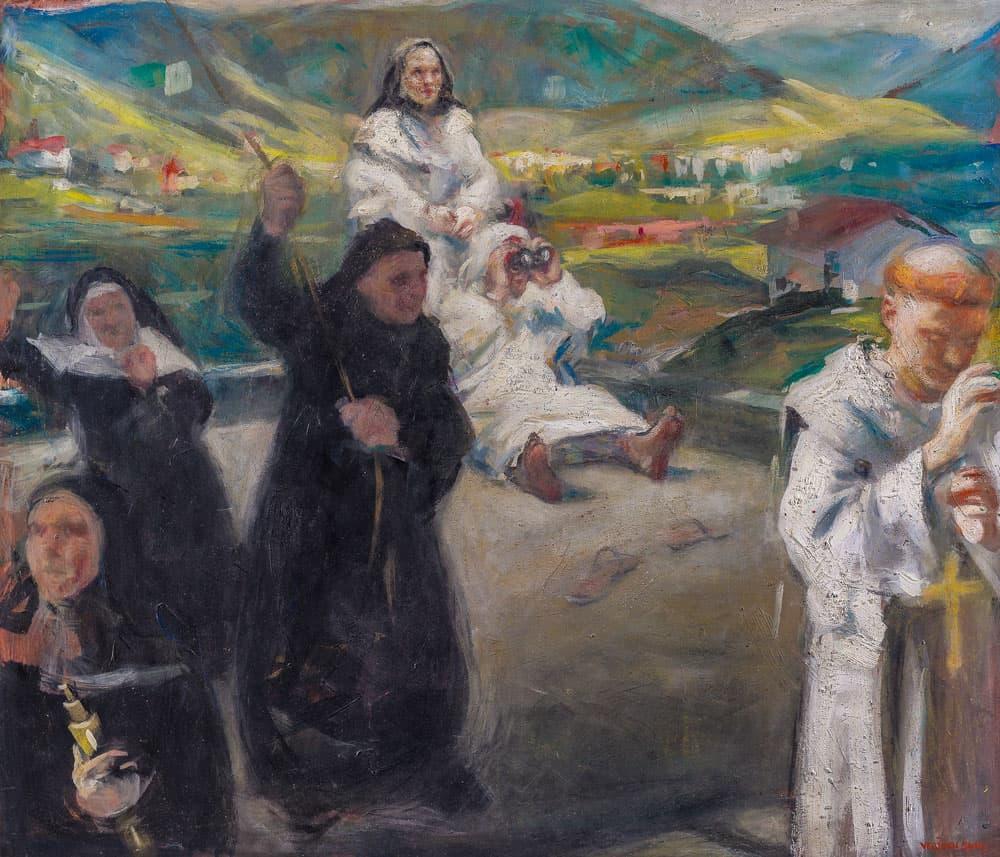 Vebjørn Sand, På taket av Karmelittklosteret