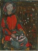 Kai Fjell, Kvinne i rød bluse