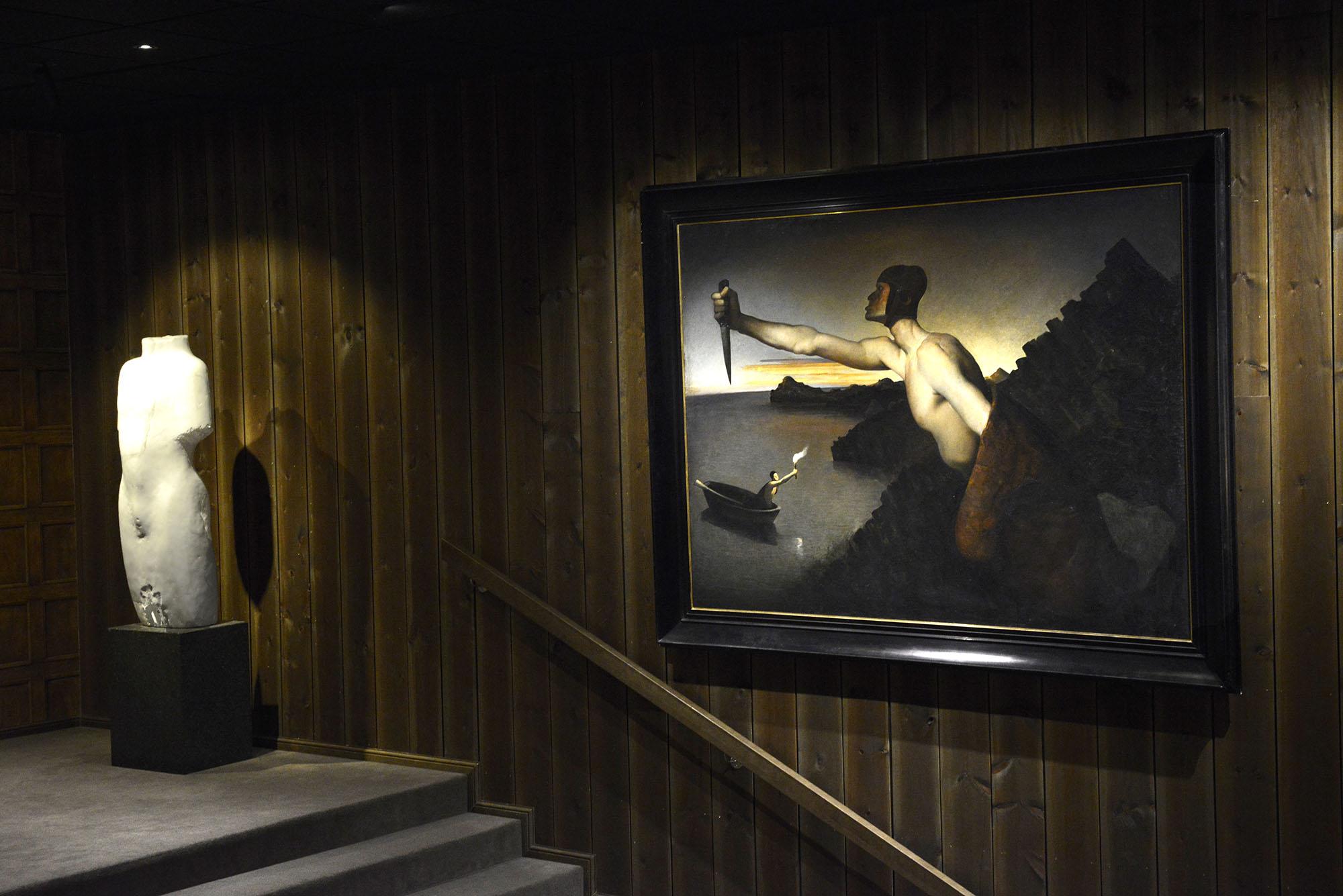 Contra Natura blir omtalt som et av Odd Nerdrums hovedverk. Bildet henger på Vestlia Resort på Geilo. Maleriet er en del av samlingen til The Gundersen Collection.