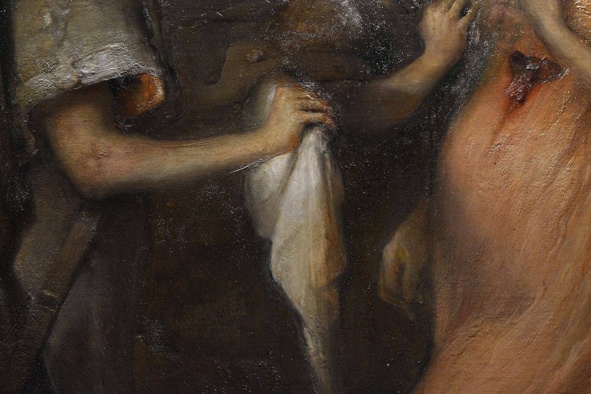 Detalj. Bildet henger på Vestlia Resort på Geilo. Maleriet er en del av samlingen til The Gundersen Collection.