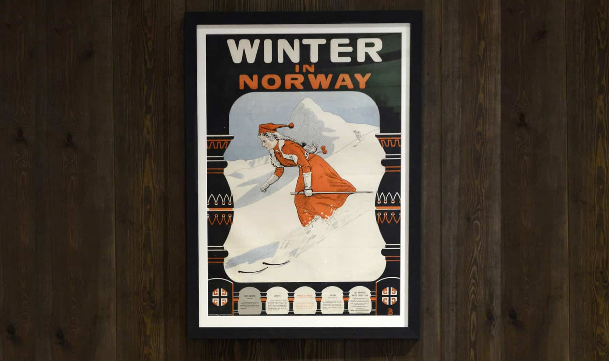 The Gundersen Collection har i dag har en av de største private samlingene med kunstplakater med norske vintersportmotiv. Fra før 1907 og opp til i dag.