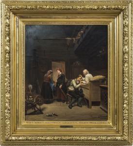 1851 Olje på plate 60 x 52 cm