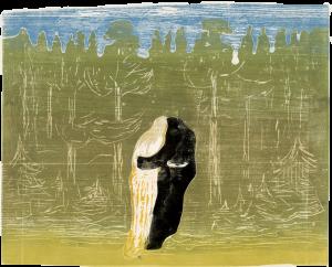 Edvard Munch Mot skogen I, 27
