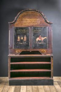 Framskap(matskap) Dekorert med to figurer og en dromedar på hver sin dør Malt av Embrik Bæra i 1846 til kårstua på garden Quie(Kvie) i Flå i Hallingdal. Kårstua er fra 1667.